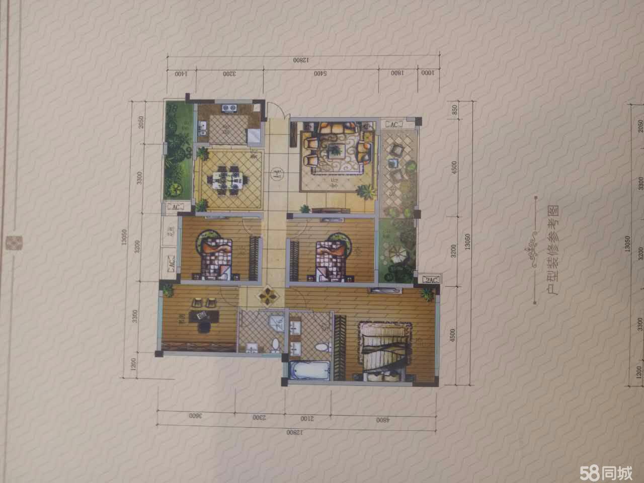 河东新区荣海温泉国际3室2厅2卫135.91平米