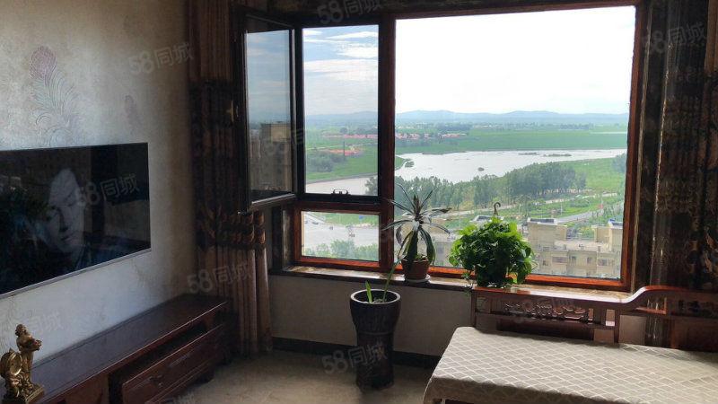 御龙苑3号楼电梯20楼98平全实木装修53万正南正北视野好
