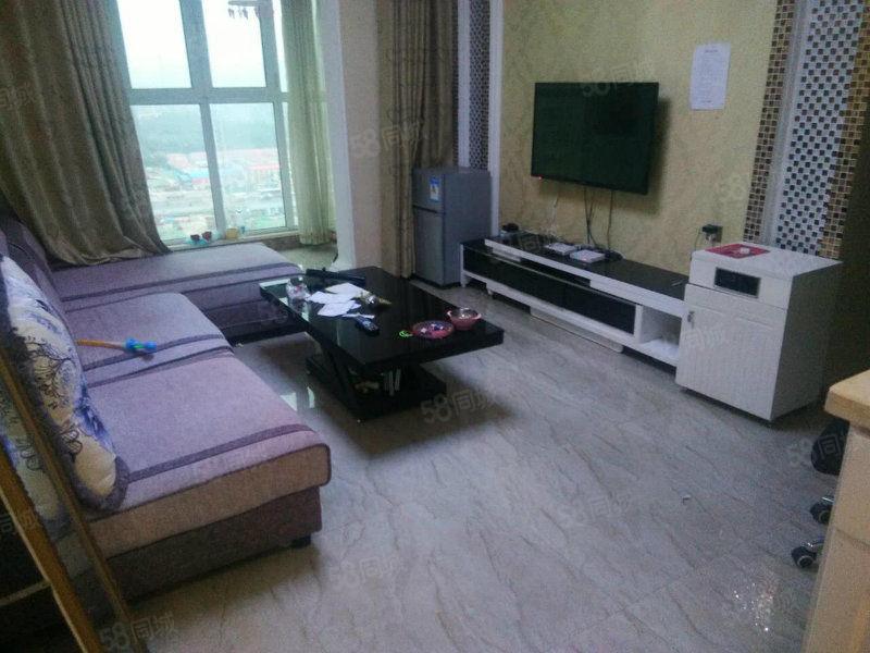美景鸿城豪装两房出租稀有户型家具家电齐全随时看房!