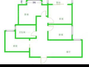 建业城稀有小三室中间楼层花小钱买个大物业
