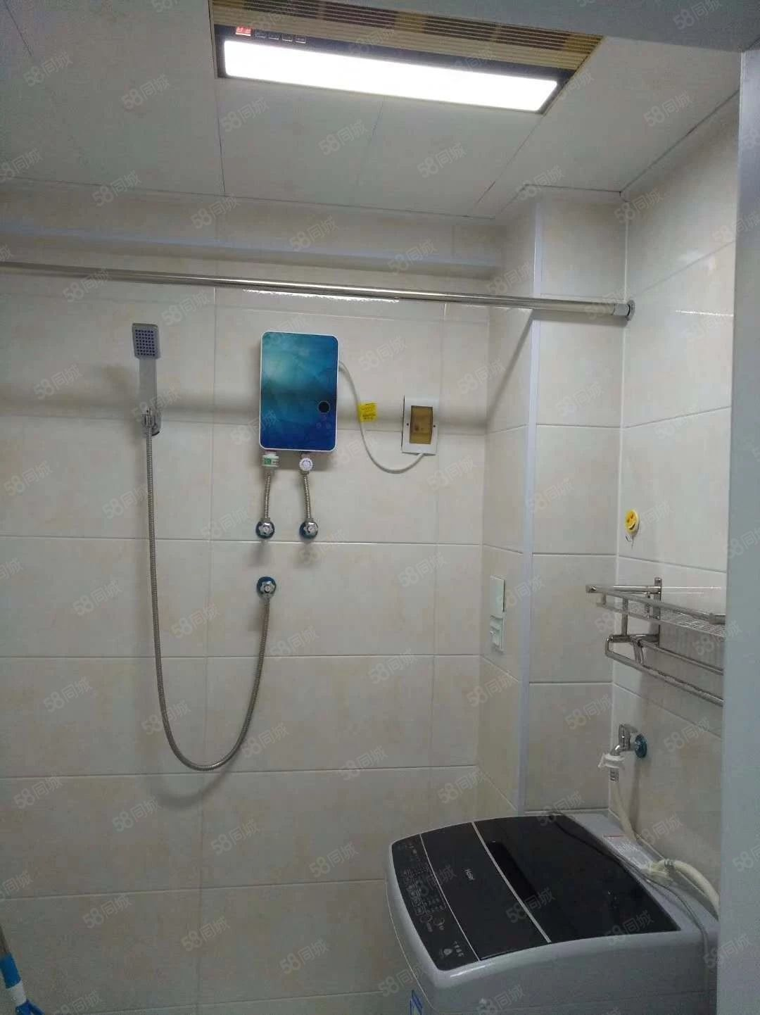 中兴A栋出租一室一厅拎包入住电视冰箱洗衣机热水器床衣柜宽带等