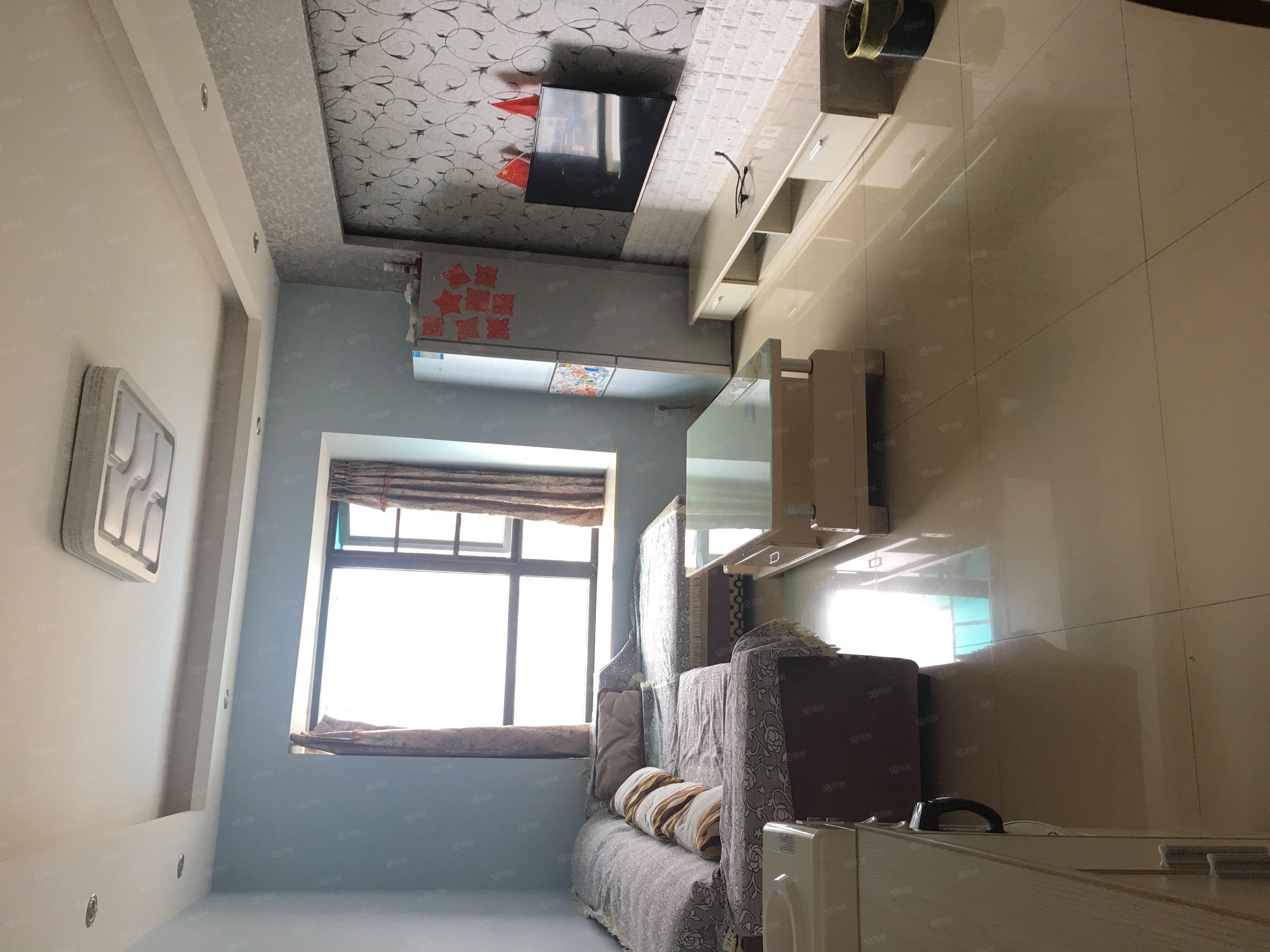 降价急卖!华府,14楼套2,精装修,带家具家电空调,带地暖