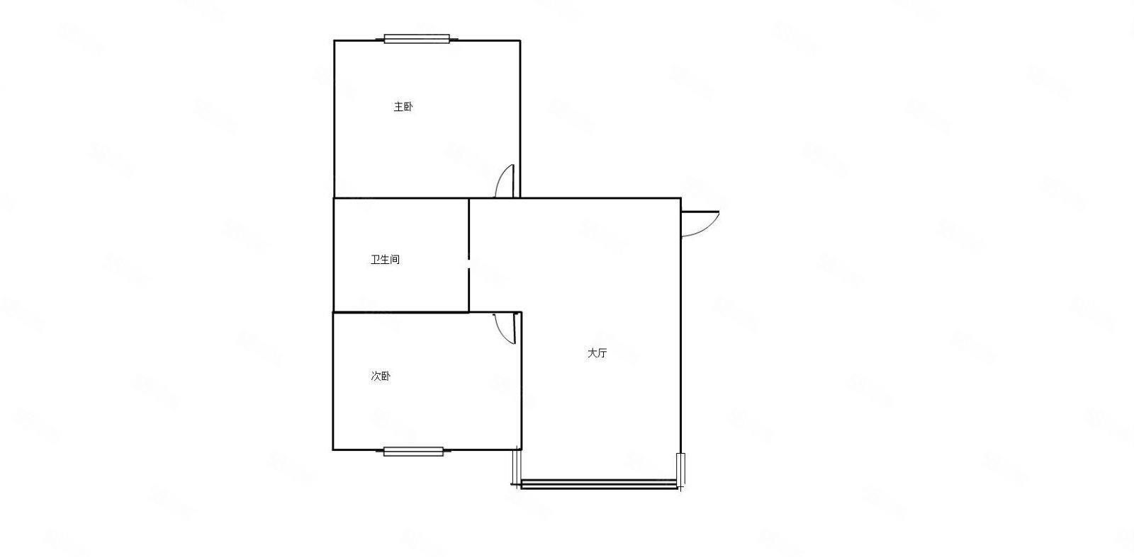 出租香漫花都5楼70平两室一厅年租2.3万带家具电器新房未住