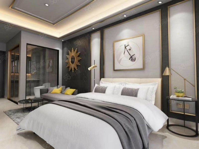 44平独立产权酒店标间公寓总价38万小户型精装修带租约送阳台