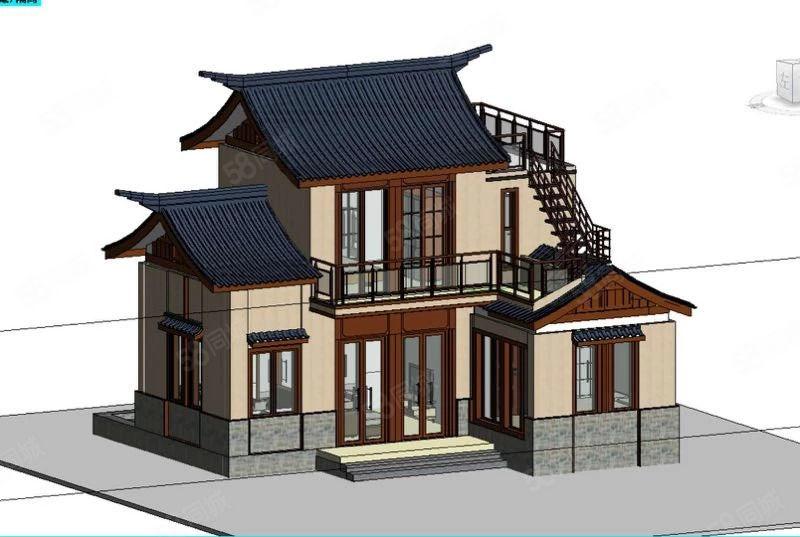 丽江独栋雪景别墅,小区配套齐全,四面水景环绕,雪景尽收眼中