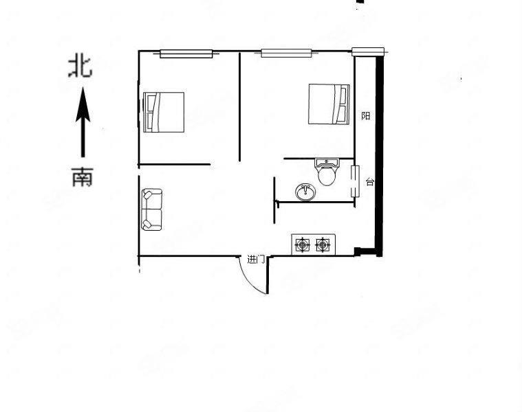 首付7万入住四管三中心旁翰豪国际两室两厅大两室