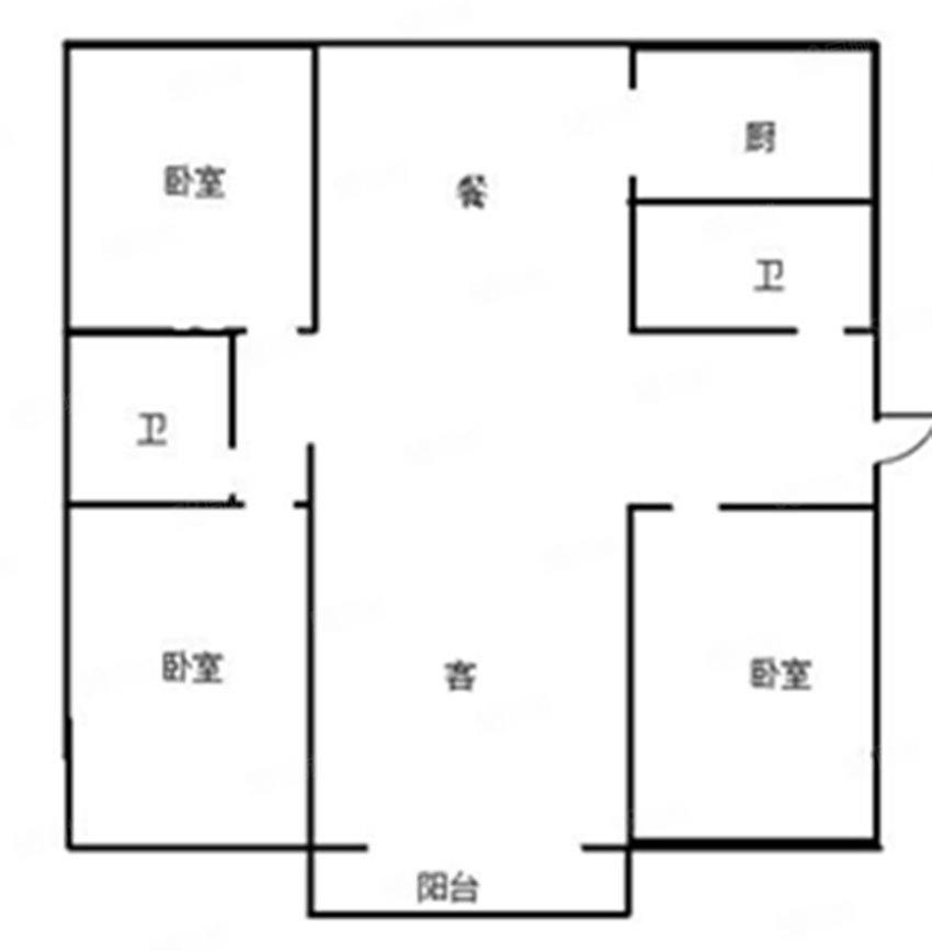 团结西街鸿禧园低层三层简装三居空家现房