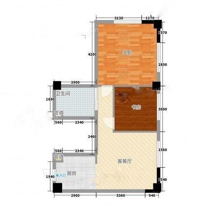 城開學院學區兩室一廳公寓房