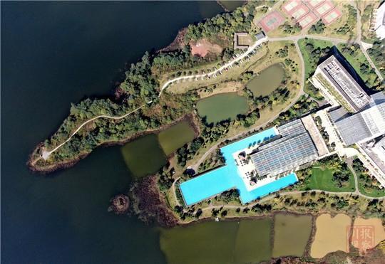 初冬的仁寿黑龙滩国家湿地公园:色彩斑斓