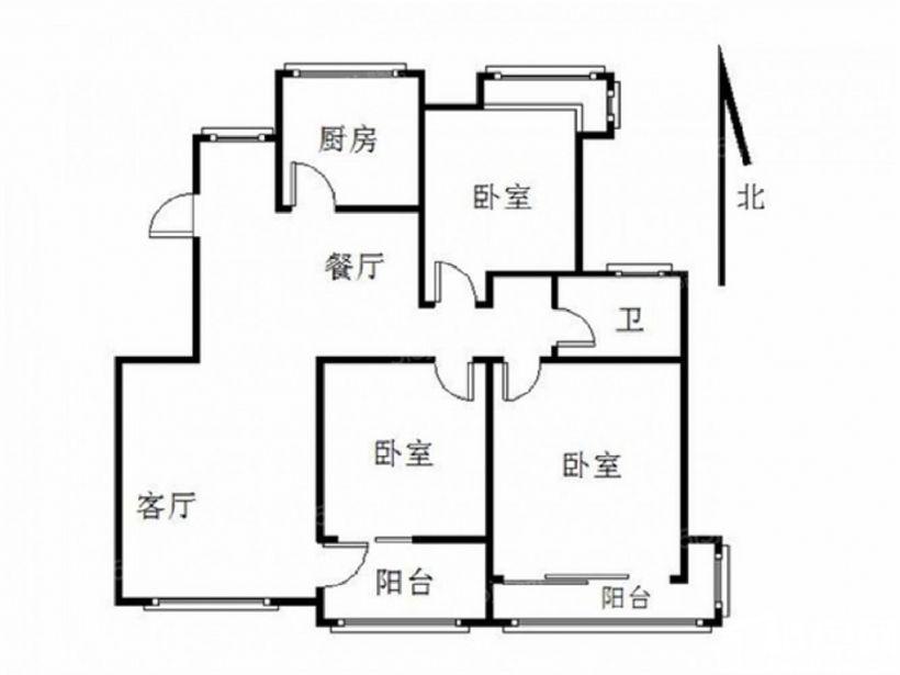 业主换房急售 亚东城南北通透三房 满两年无税 有钥匙 随时看
