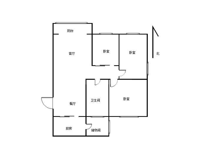 兰亭・御湖城东区 3室2厅 南 北