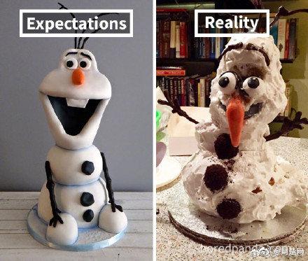 烘焙蛋糕的理想vs�F��,�W友:成品能把自己��到
