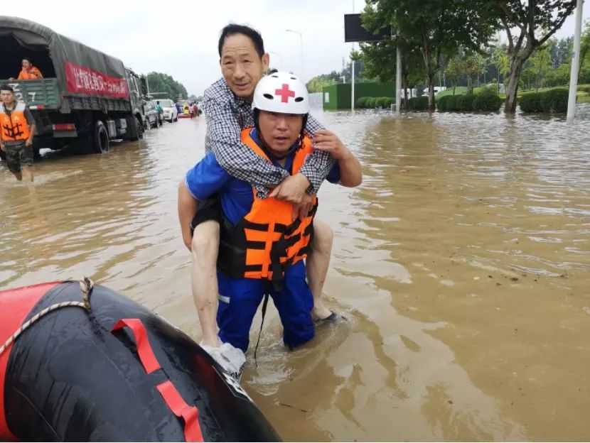 宿州��桥红十字应急救援大队抗洪纪实