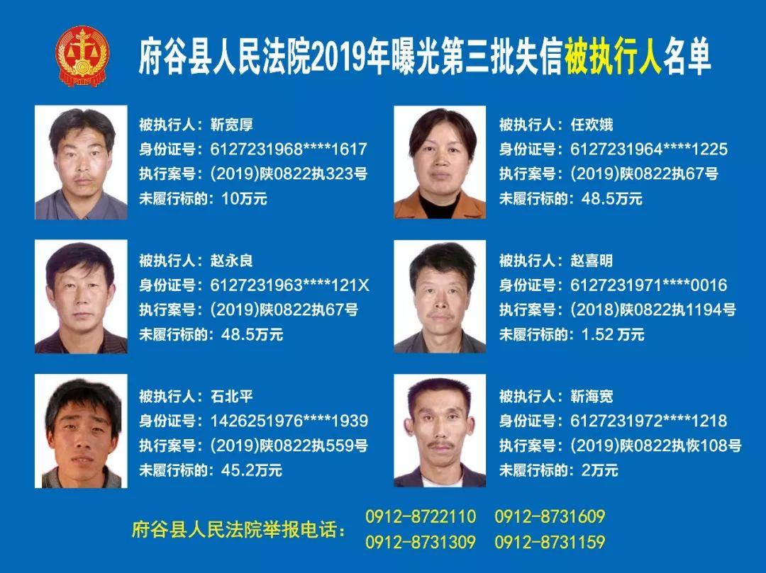 府谷县人民法院2019年第三批