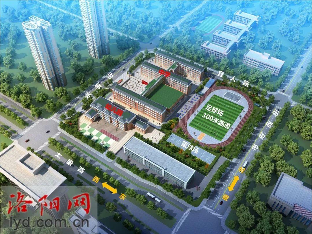 洛阳新规划三所学校,位置…