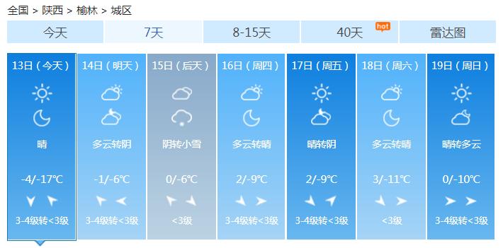 又要下雪啦!榆林�⒂�大范��降雪天��