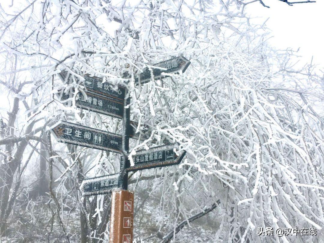 龙头山顶又下起了大雪