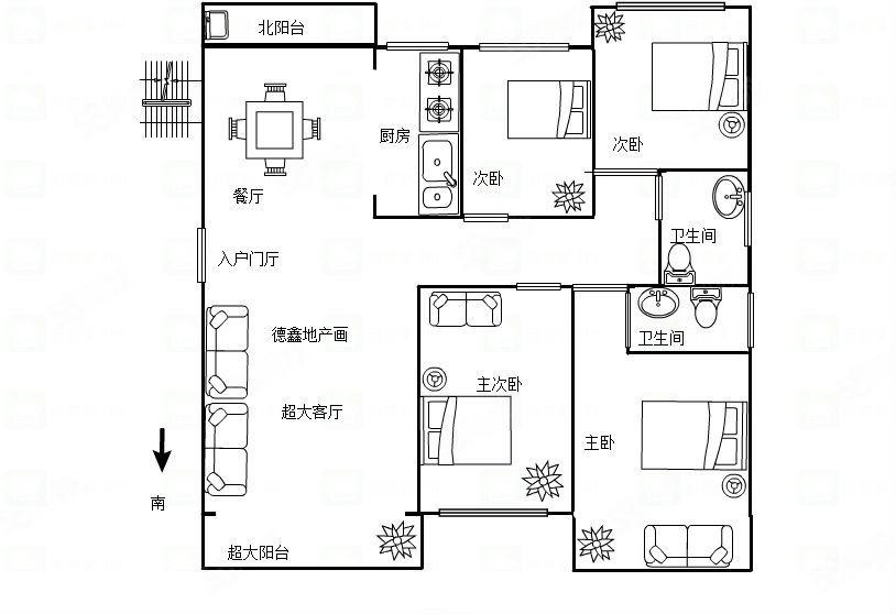 伊顿庄园洋房出售,超大客厅出阳台,可首付,可随时看房。
