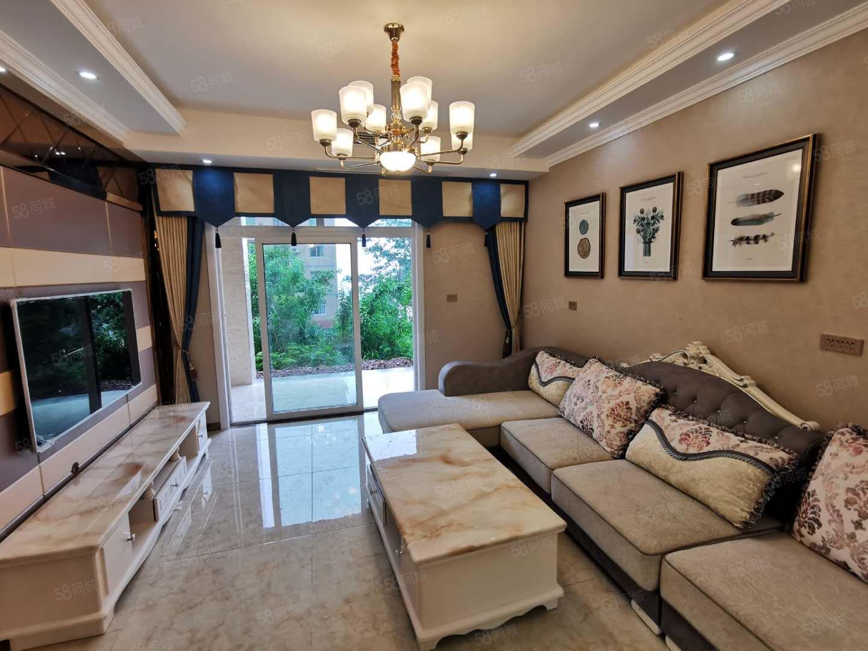 香山湖,带私家花园正2房,全新装修,品牌家电