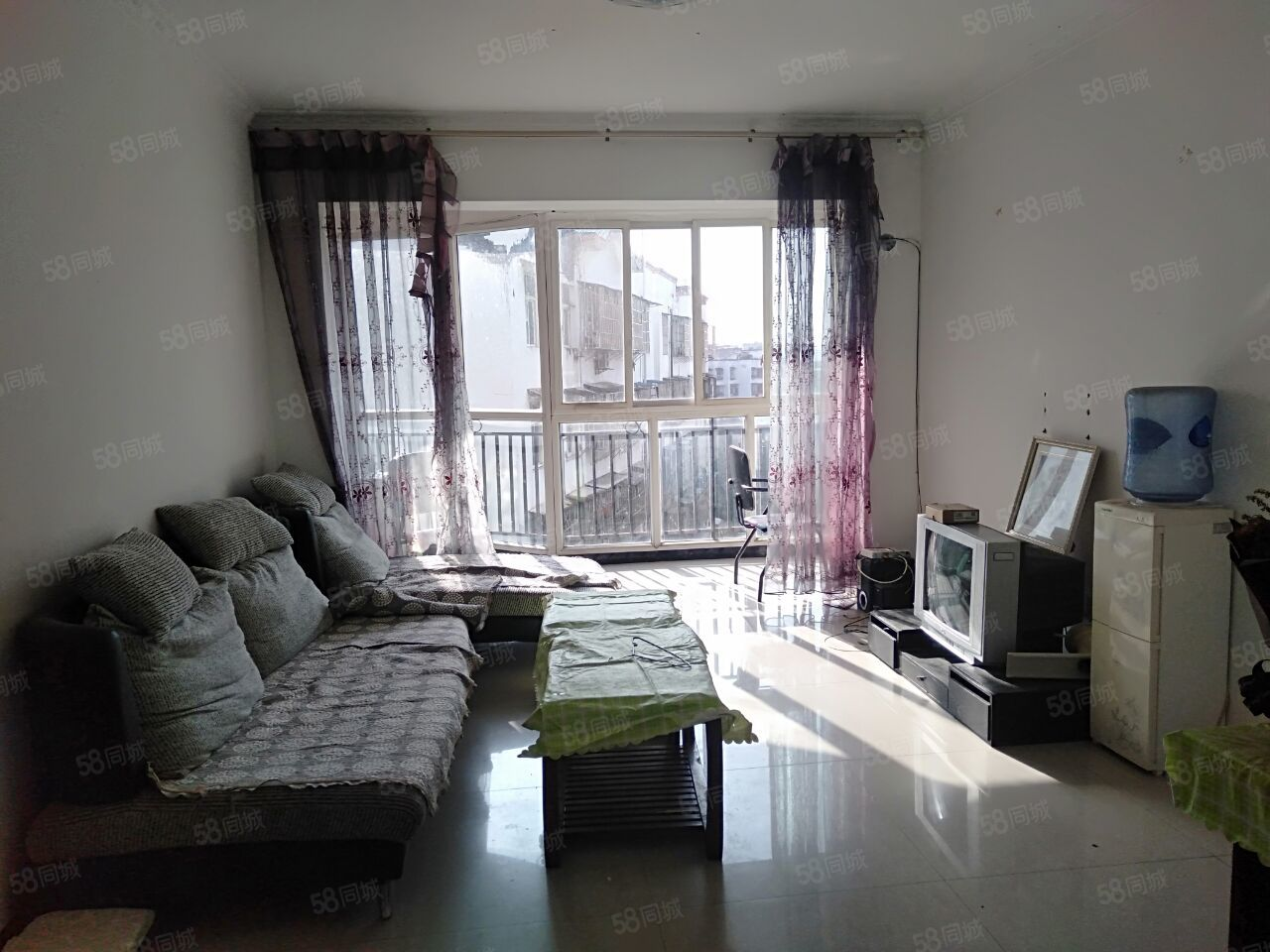 阳光城5楼2室2厅1卫80平米除无空调家具电器齐全
