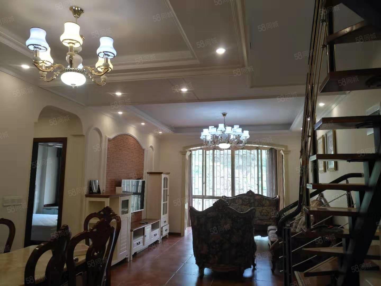 城东吃喝一体温泉精装修5室,家具家电齐,带露台空中大花园。