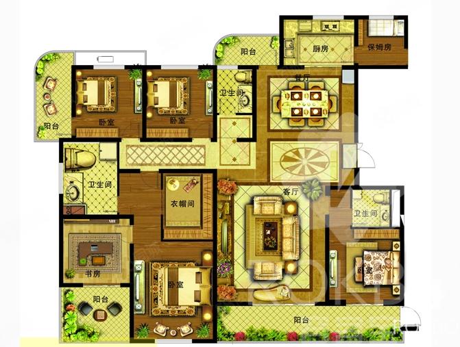 万象城,五室两厅三卫,大面积平层,现房可随时看房,可按揭