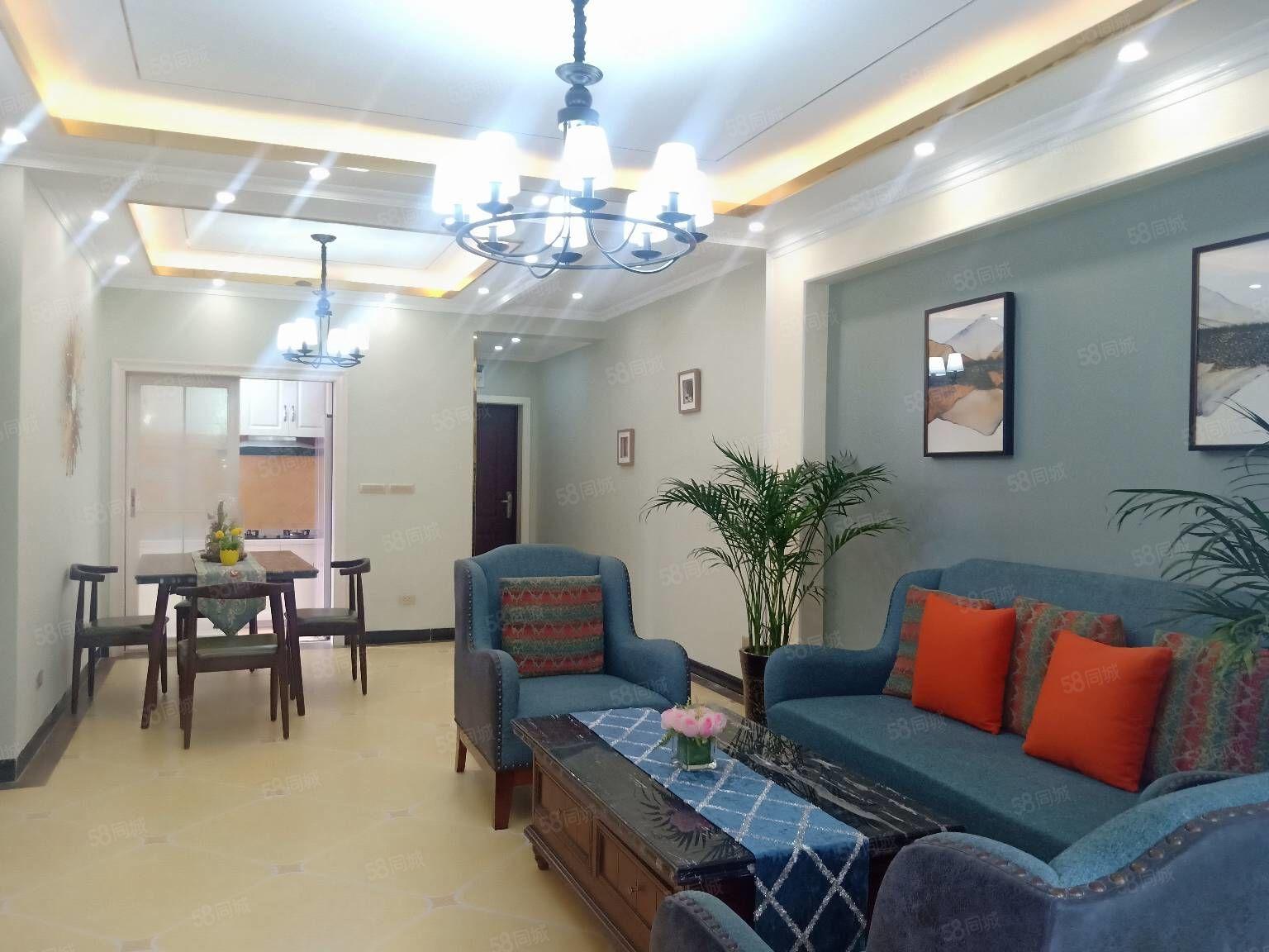 鷗鵬華府豪華躍層裝修三室兩廳兩衛大陽臺出售朝中庭戶型方正