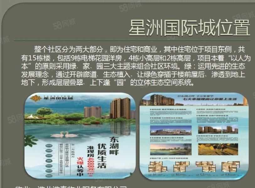 星洲国际城东湖旁靠近吾悦广场两室好房82平41万