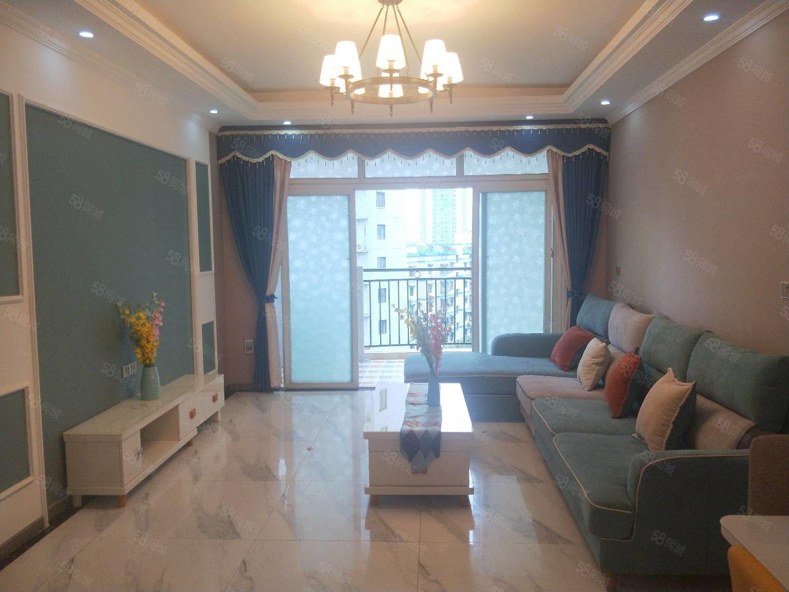 三峡广场现代精装正规3室2厅楼层好可以停车套内85m采光好