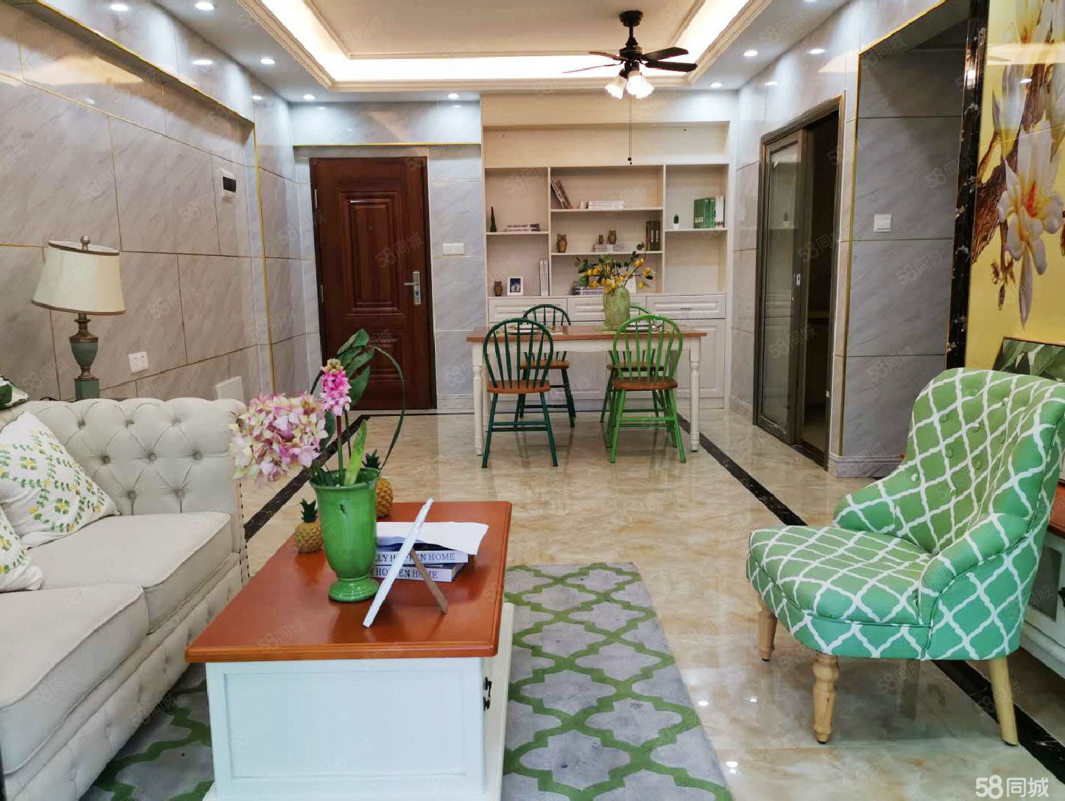 市医院后门东塔路两室家具家电齐全精装修环境优雅.随时看房。