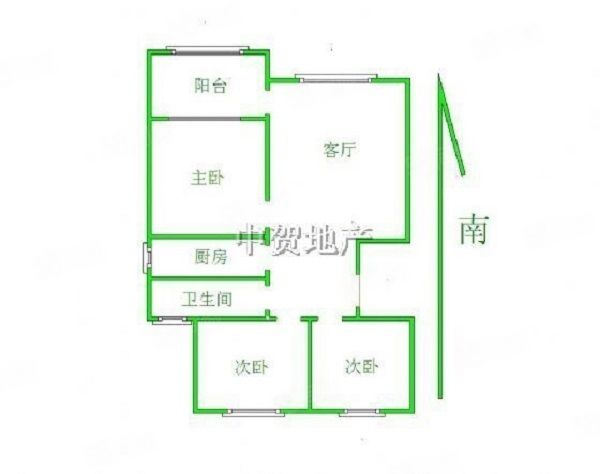 雨荷苑毛坯大三房,户型通透方正,价格真实优惠,黄金楼层