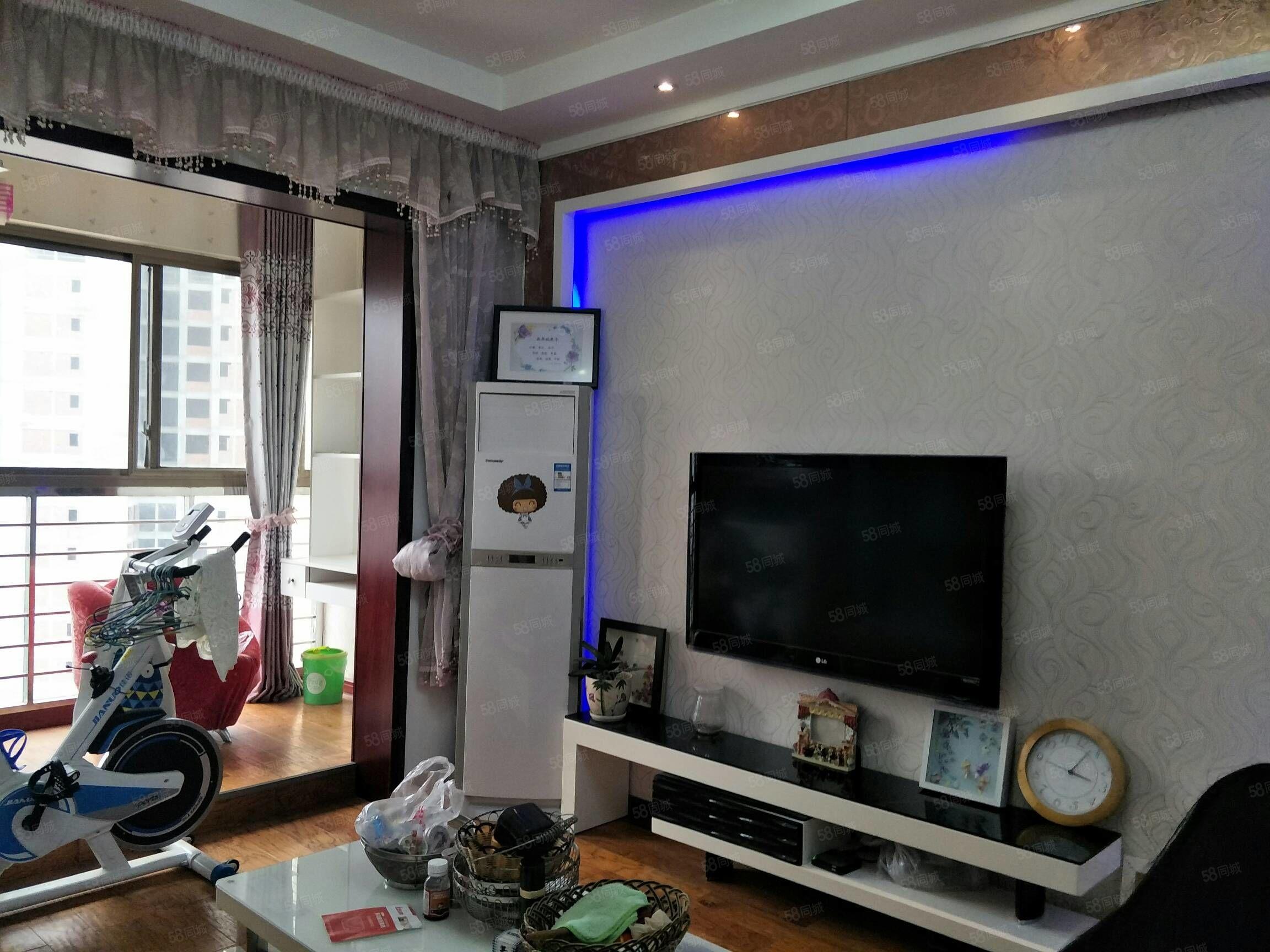 新城美麗星城二室二廳一衛毫華裝修空調三個,校區房有意請打電話