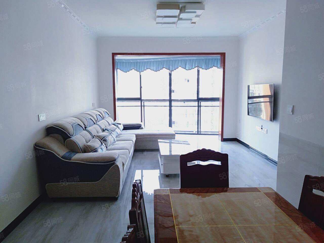 锦绣国际城电梯房3室2厅1卫精装齐全空调2台拎包入住
