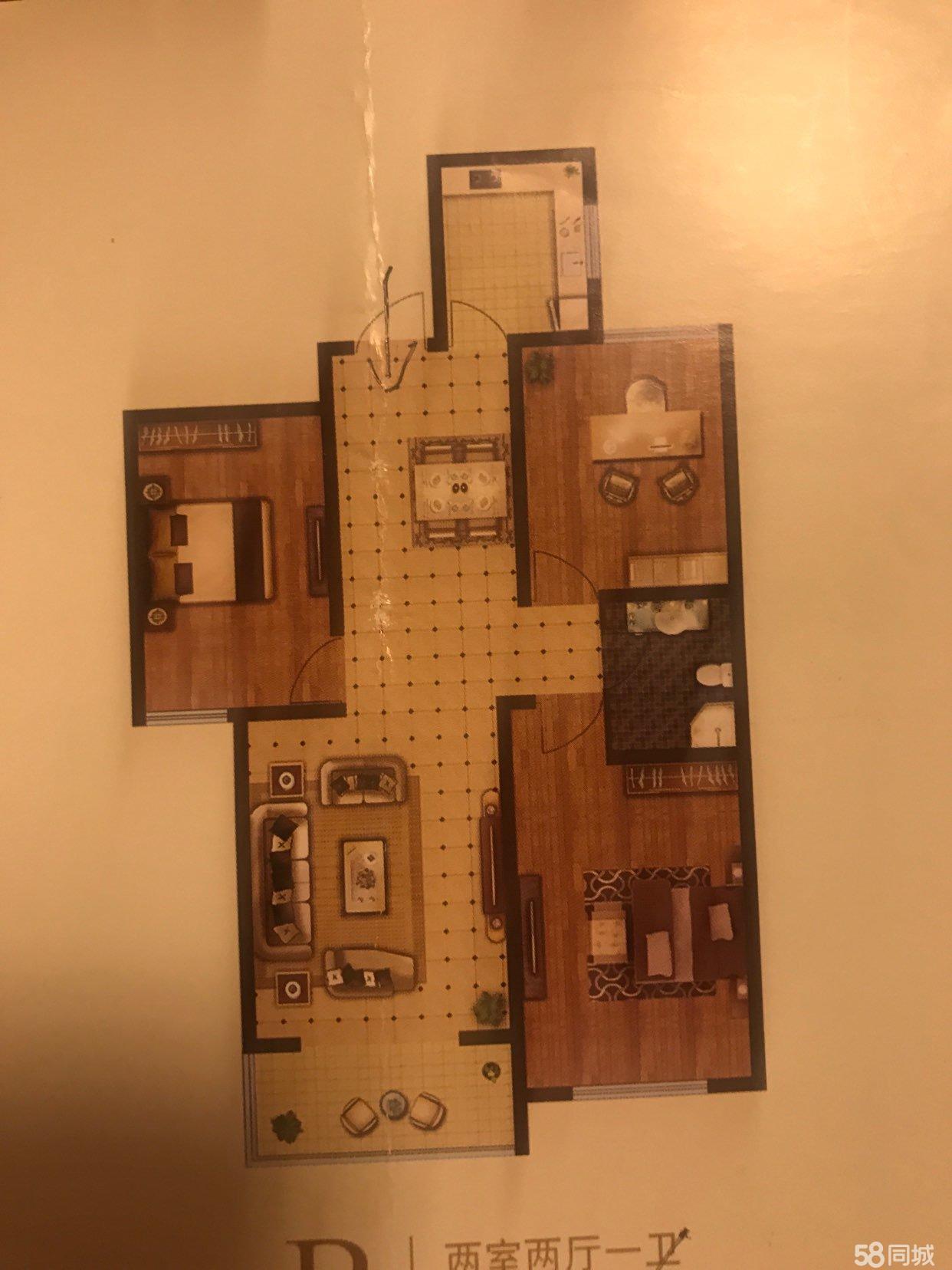 中央首府毛坯房105平方出售