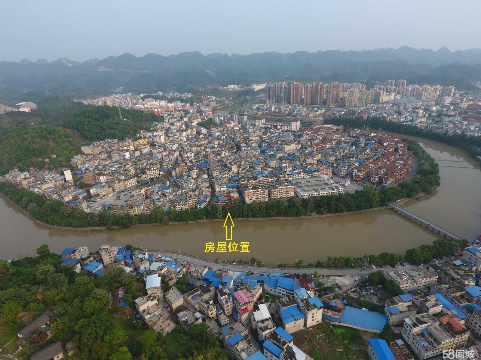 黔南州平塘县城玉水金盆内,位于玉水河边私房一栋3层临街门面楼出售