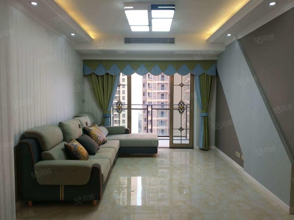 滨江国际精装改三室现代装修风格户型采光好