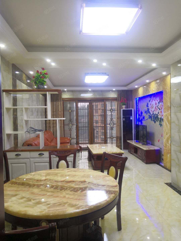 中央商务区翰林名苑高端学区房全新精装三房全实木家具