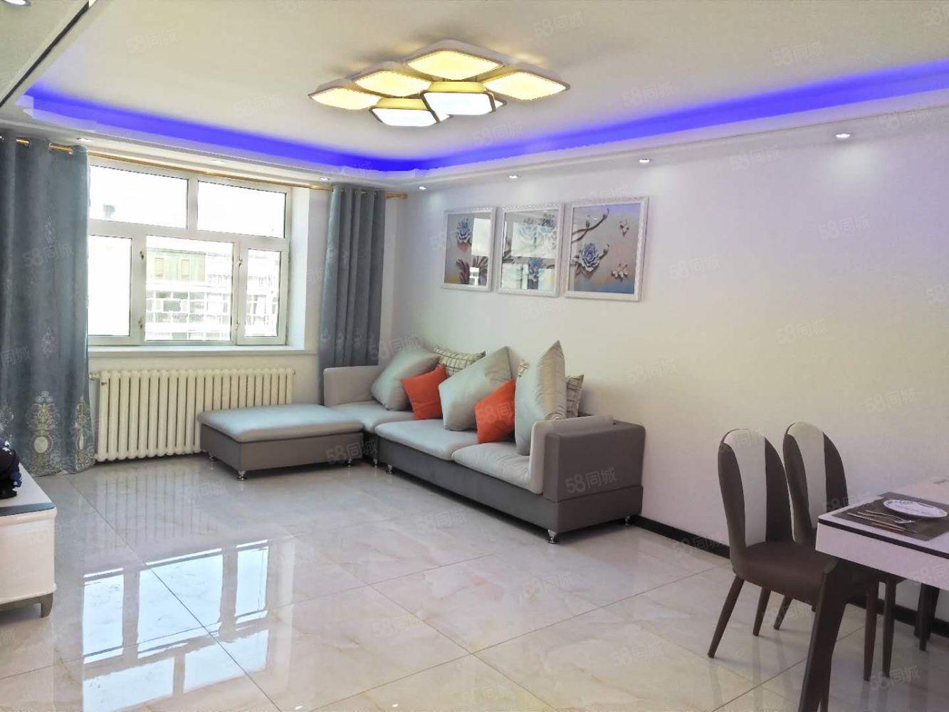 北疆雅苑教委楼正6楼89.5米精装2室一厅南北通透