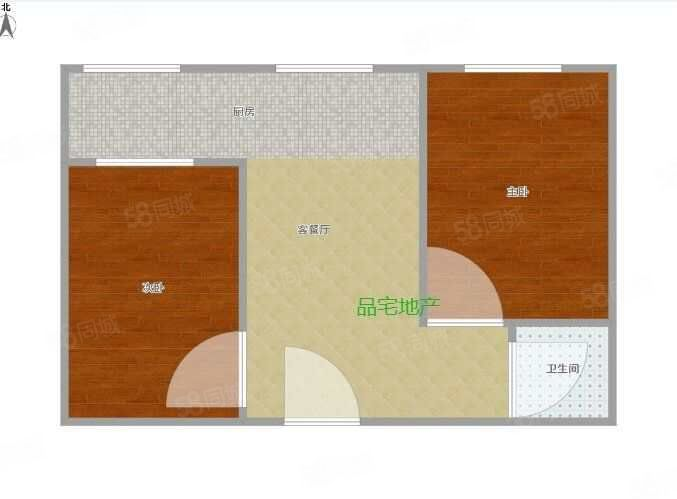 锦丽小区458元2室1厅1卫普通装修,环境幽静,居住舒
