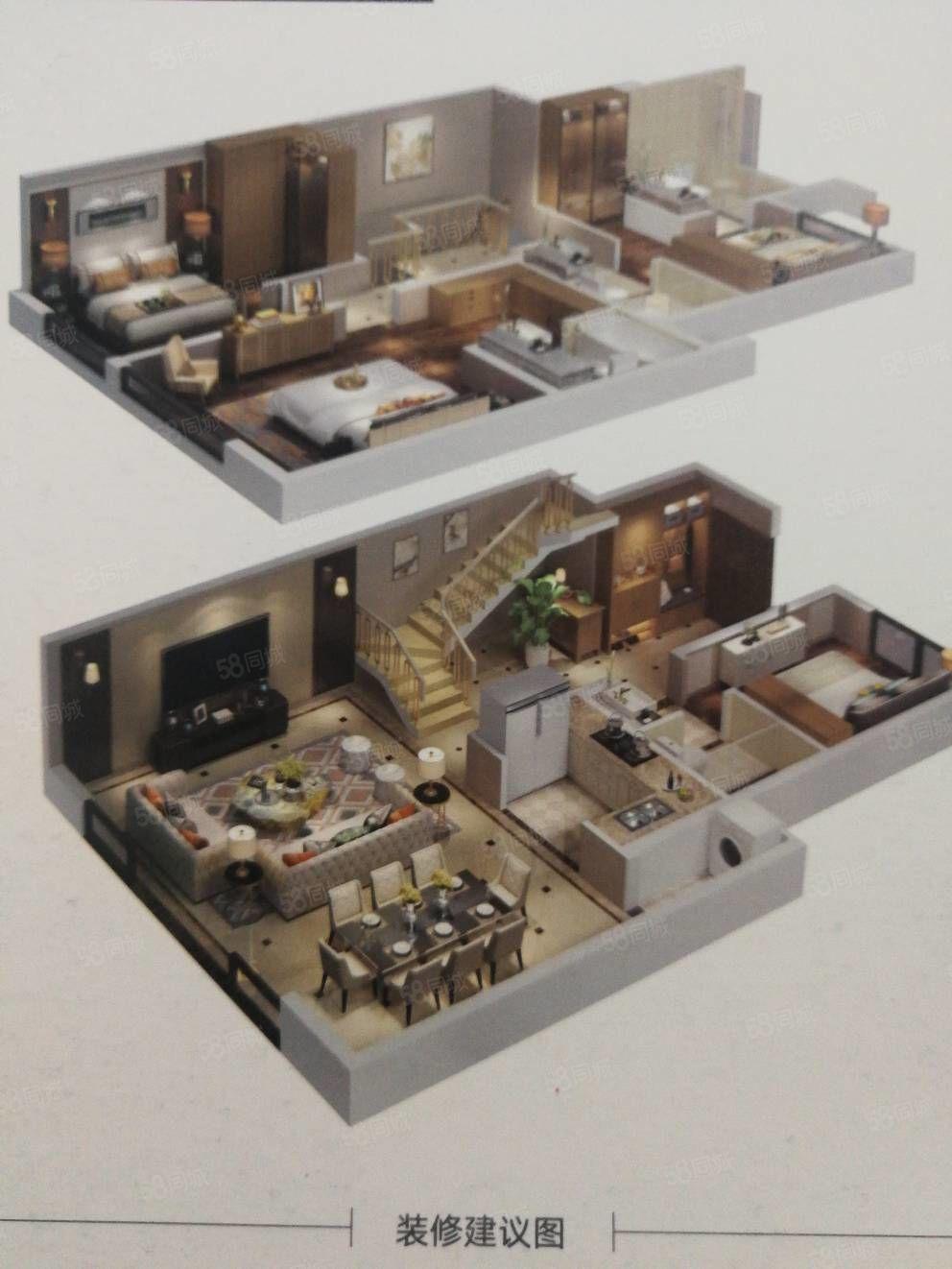 丁香郡顶跃复式可观江两层6室4厅4卫,花滩国际新城