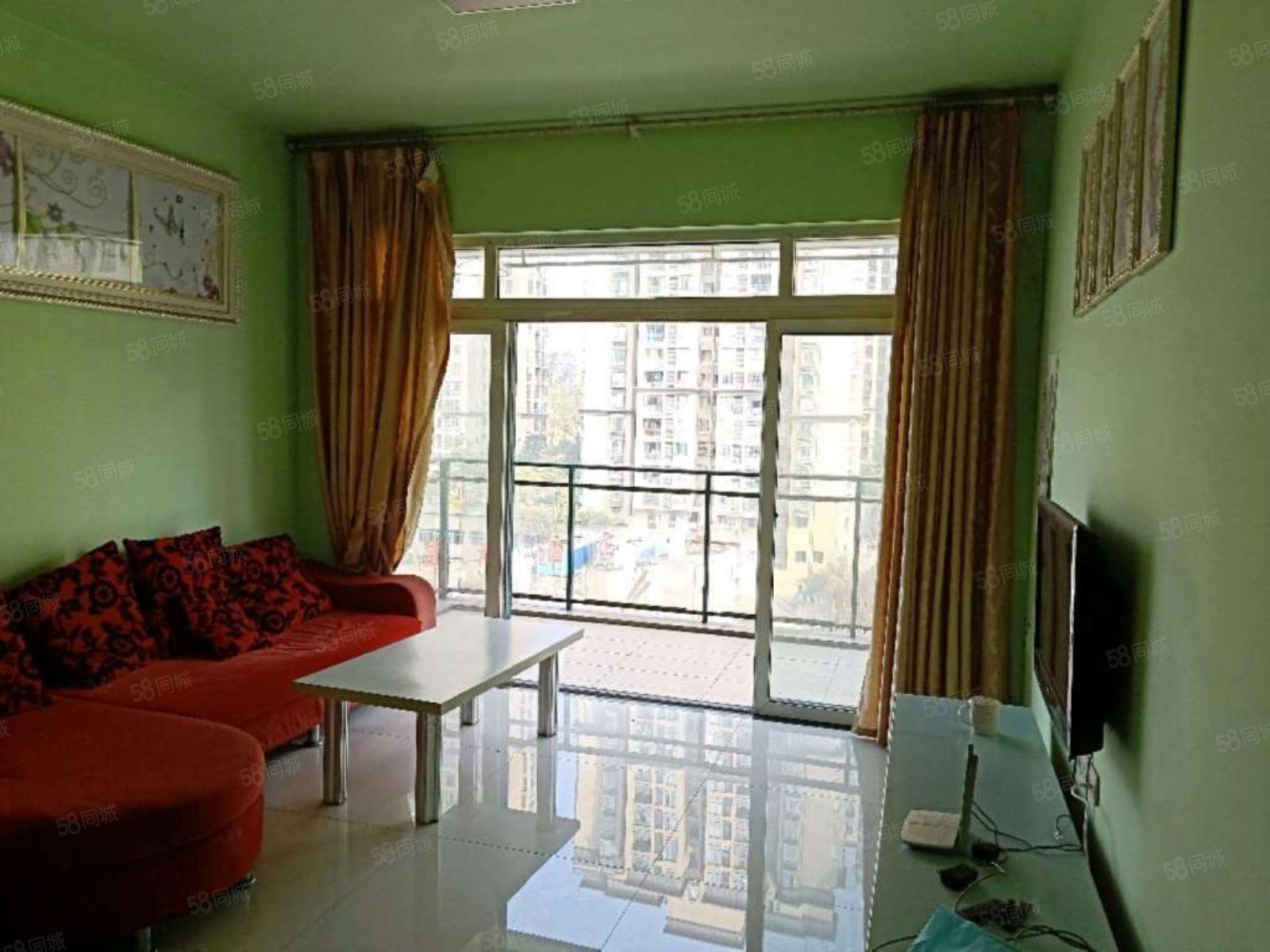 学府中央精装两房全套家具家电1000便宜出租拎包入住