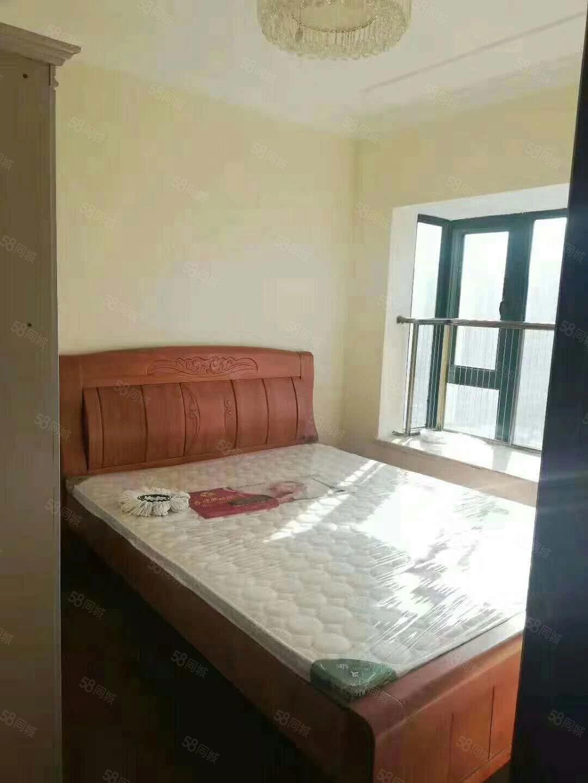 恒大城2室1厅,南北通透,装修一次未住,家具全新