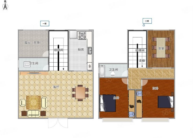 新城区精装修三层别墅出租,使用面积300多平,可办公居住