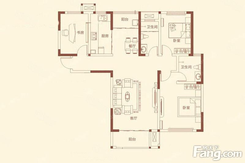 永威南樾122平方三房两厅两卫中间楼层114万真实房诚售
