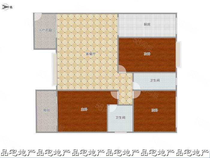 彩云大厦128平三房,毛坯,端头房,双证齐全,有钥匙。