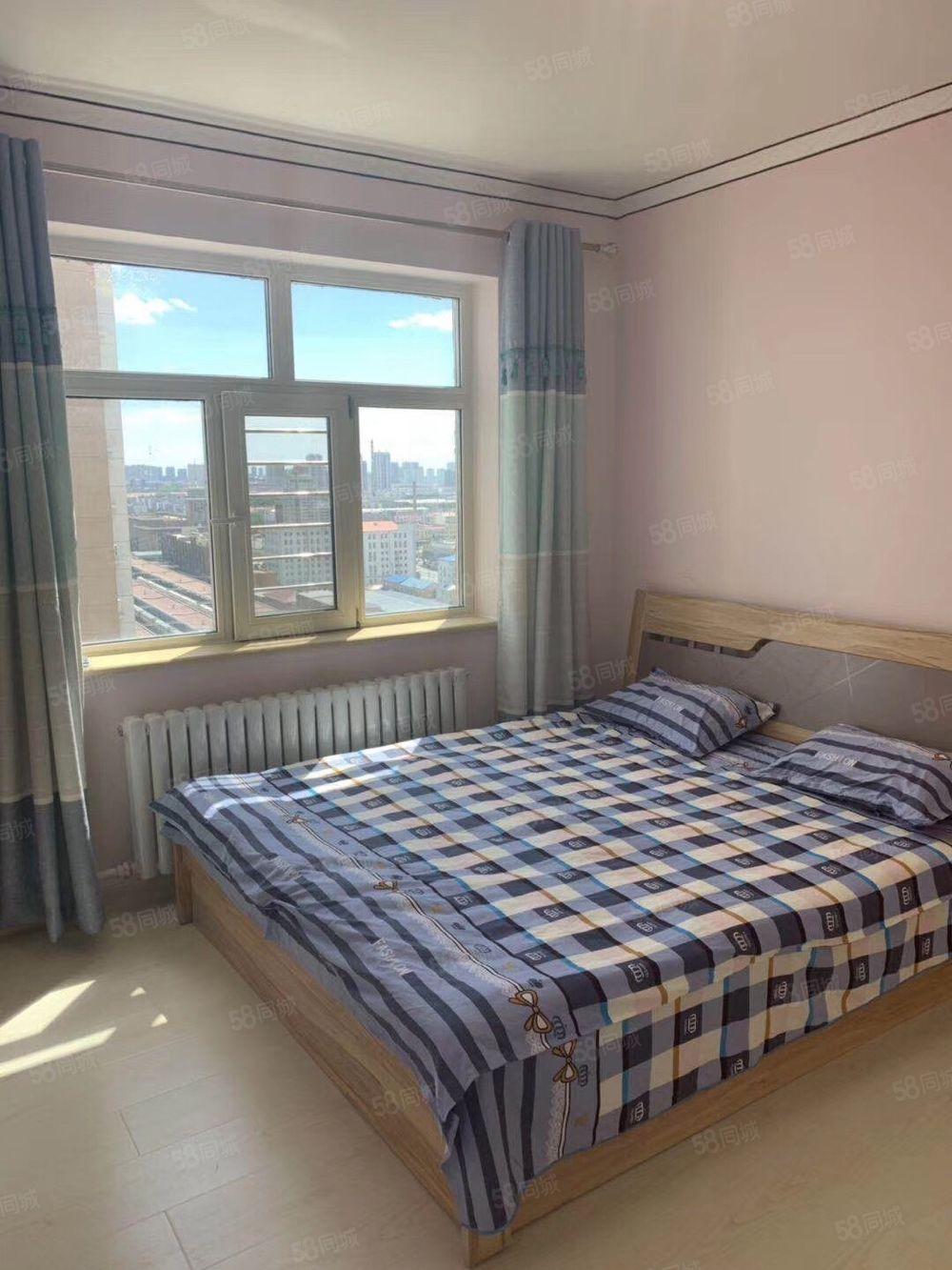 鹤城馨苑高层正21楼两室一厅,首付6万,拎包入住