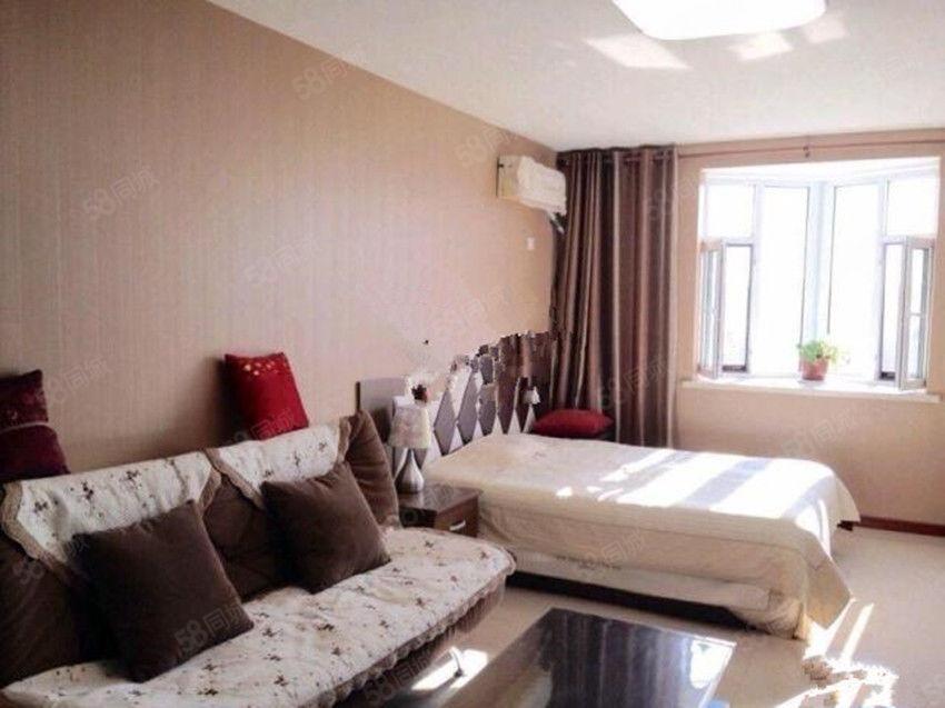 曼哈頓G區精裝1室公寓家具家電全包取暖物業電梯