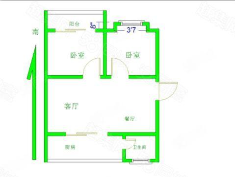 (理工学院附近)朝阳小区两室一厅一卫南北通透。