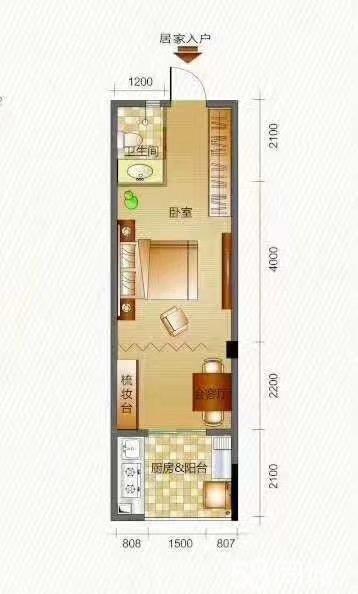 荔波樟江���H城1室1�d1�l36.6平米