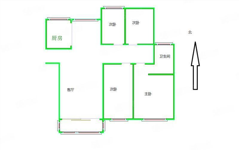玖号院简装修3室2厅,超高性价比,诚心出售,南北通透,采光好